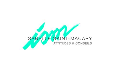 Logo Attitudes et conseils Isabelle Saint Macary sur fond blanc